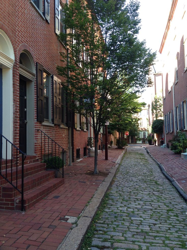 Society Hill, Philadelphia. Could walk these cobblestone streets for hours. So much history and character. The locals are super friendly. Very charming area!!