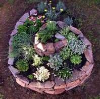 Herb or succulent garden idea.
