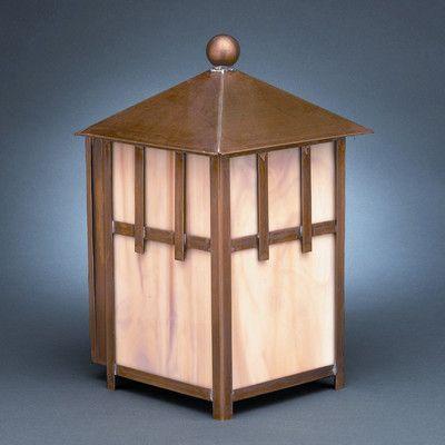 Northeast Lantern Lodge 1 Light Outdoor Flush Mount Finish: Dark Antique Brass, Shade Type: Seedy Marine