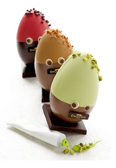 Dalloyau chocolate Easter eggs.