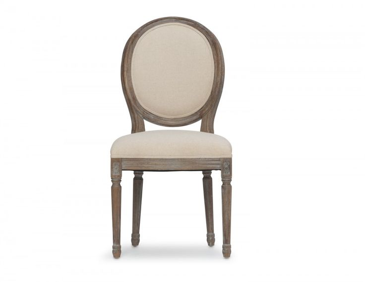 Louis bestows dining and kitchen tables with a touch of class. This oak chair features 55% linen, 45% cotton upholstery on its seat and back, giving it unmistakably Parisian Flair.  But dont let its detailed legs and curvaceous silhouette fool you - the Louis chair is as durable and comfortable as they come.