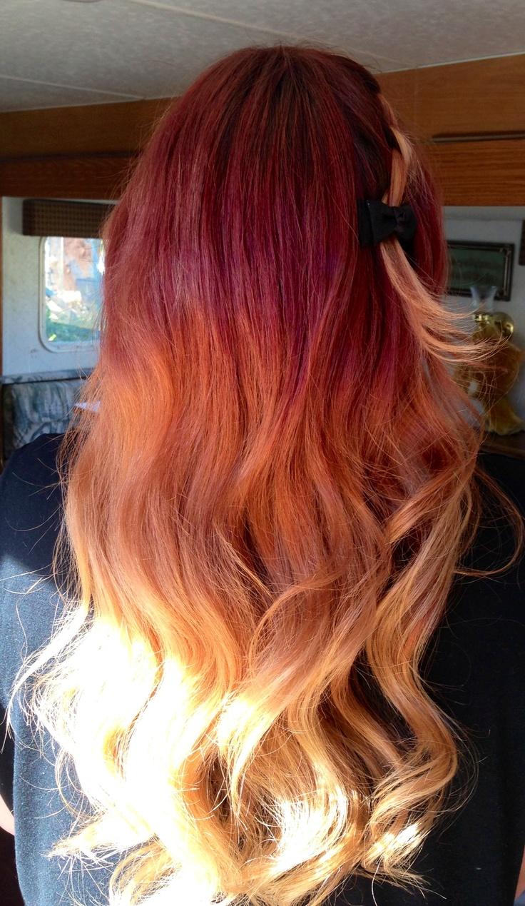 best u Red u Purple Hair images on Pinterest  Colourful hair