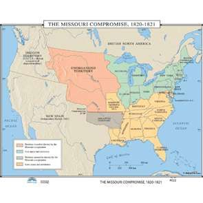 The Missouri Compromise 1820 1821 Map 022