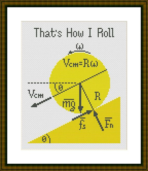 Thats How I Roll is a pattern, not the completed work. I designed it myself. This pattern is a super quick stitch and can be done in just a few