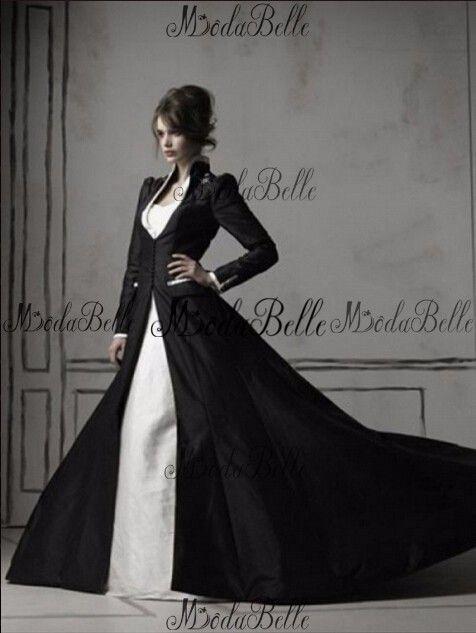 Medieval 2016 Vintage Long Sleeve Lace Black White Wedding Dress Real Photo Satin Gothic Unique Bridal Gown Robe Blanche Mariage in Onze fabriek zijn voorzien van:1 kleur: aangezien de computerschermen chromatische aberratie,, vooral tussen crt scherm van trouwjurken op AliExpress.com | Alibaba Groep