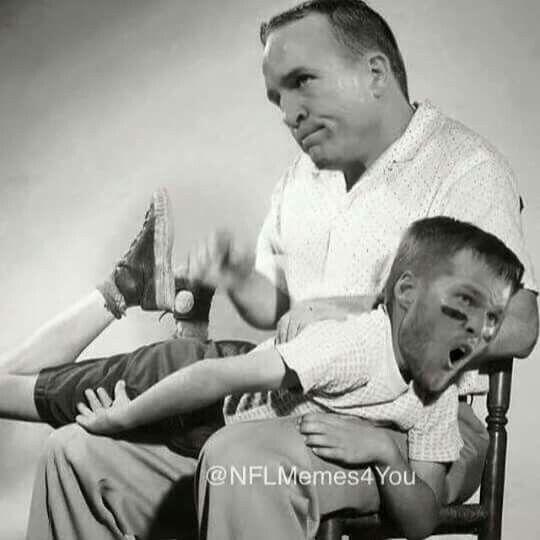 Peyton Manning busting Tom Brady