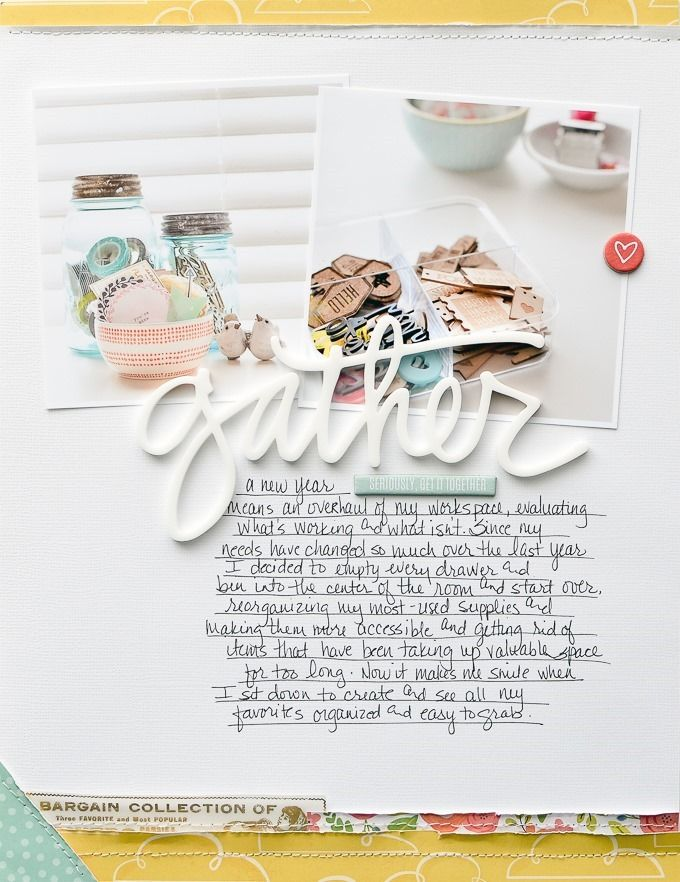 Get It Together | Layout by Peppermint Granberg of One Little Bird #scrapbook