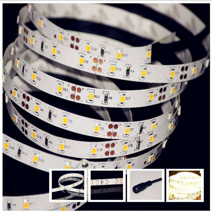 12V 60LED/M 2835 SMD Strip Super Bright Twice Lumen Than 5050 Lichtleiste Barra LED Tiras De LED 24-26 lumens / LED 1560lm/m