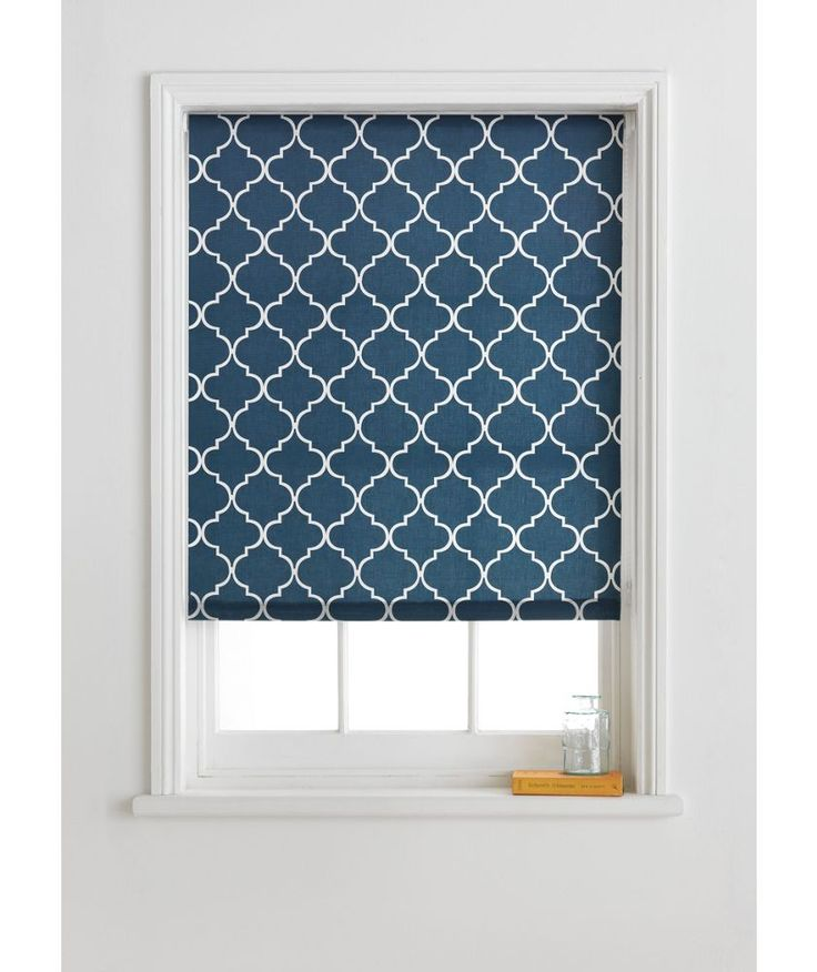 Buy Collection Trellis Roller Blind - 4ft - Indigo at ...