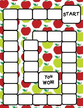Back to School Game Board templates - $1.75