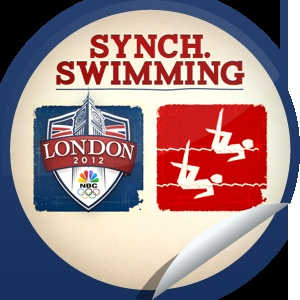 2012 Summer Olympics Synchronised Swimming...Get in sync with the Olympics! Check-in with GetGlue.com for this exclusive sticker!