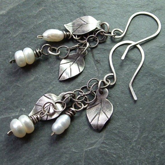 Love the leaf design - and overall earrings. Very pretty. Would like fall tones stones over pearls.