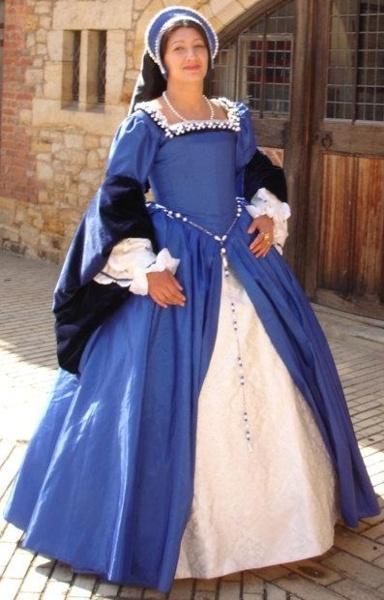 Blue Tudor gown