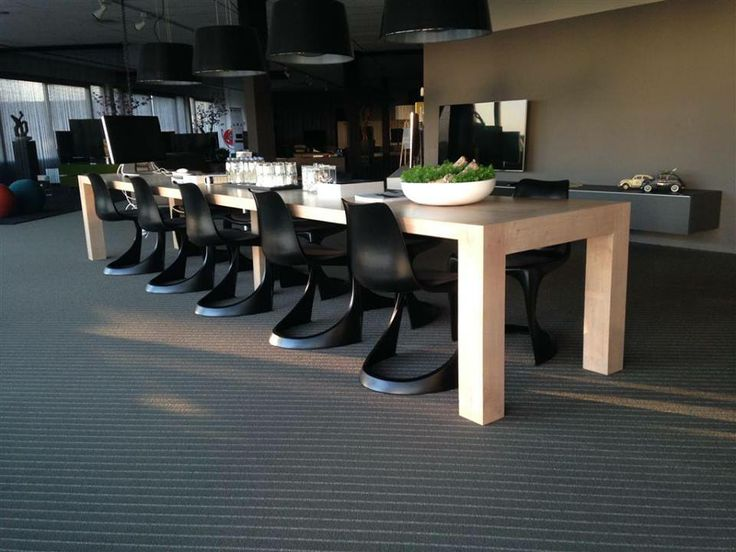Modern Danish Design Dining Room With Black Steen Ostergaard Designed Chairs Produced By Nielaus