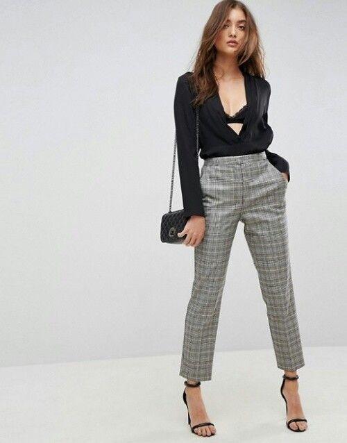 10 Formas De Combinar Tus Pantalones De Cuadros Mujer De 10 Guia Real Para La Mujer Actual Enterate Ya Pantalon Cuadros Mujer Pantalones De Cuadros Trajes De Pantalon Para Mujer