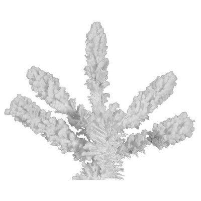 6.5 ft. Unlit Flocked White Slim Artificial Christmas Tree