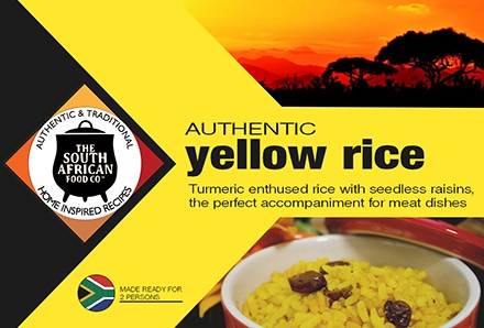 South African Food: Authentic turmeric infused yellow rice