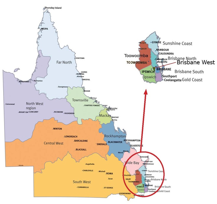 qld map the close nature of brisbane and the gold coast google image result