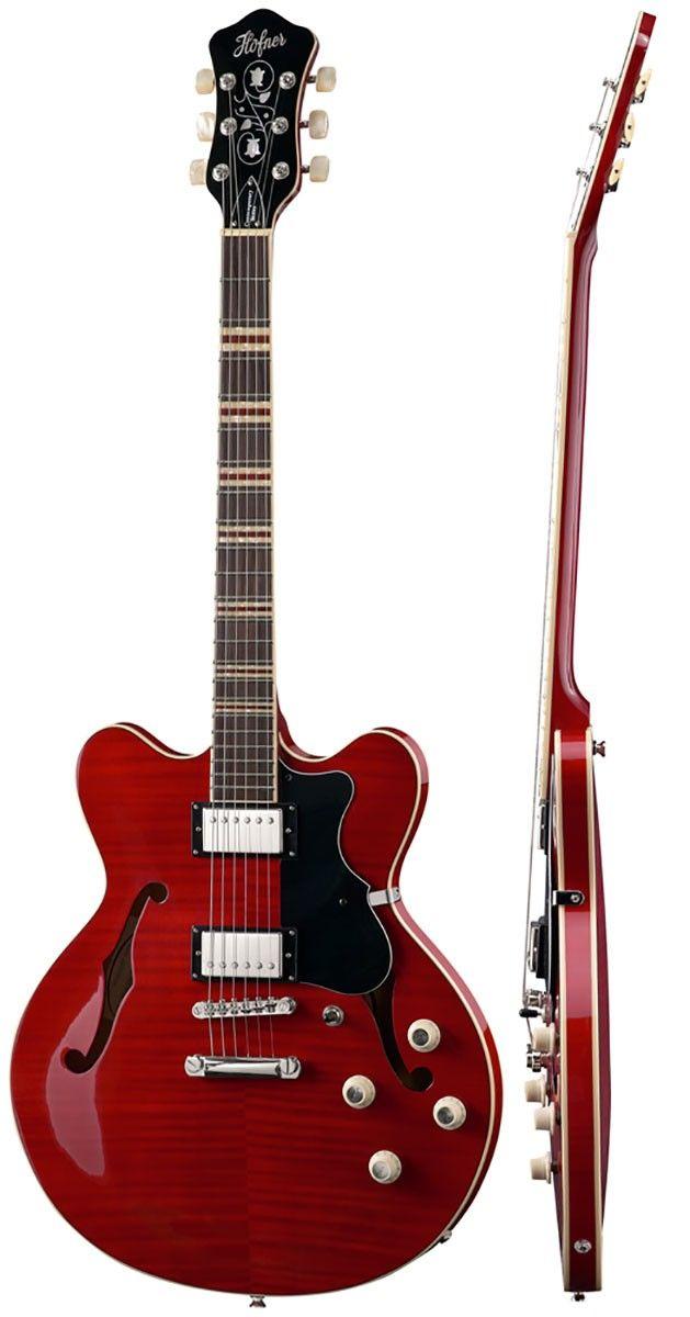 Hofner HCT Verythin - Red - Electric Guitars - Guitars - Guitars