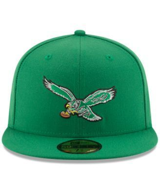 New Era Philadelphia Eagles Team Basic 59FIFTY Fitted Cap - Green 6 7/8