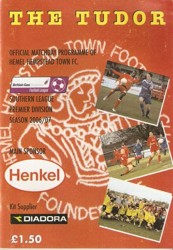 Hemel Hempstead Town FC Away   Southern League   2006/07