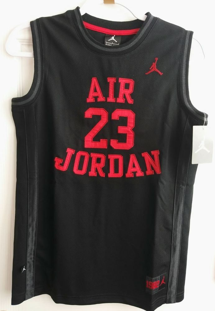f7c6a8566ab06f NIKE Air Michael Jordan  23 Basketball Jersey Youth Size L Black and Red   fashion  clothing  shoes  accessories  kidsclothingshoesaccs   boysclothingsizes4up ...