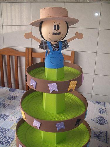 Baleiro adaptado para colocar mini bolos... | por elisaine - eliarteeva.blogspot.com