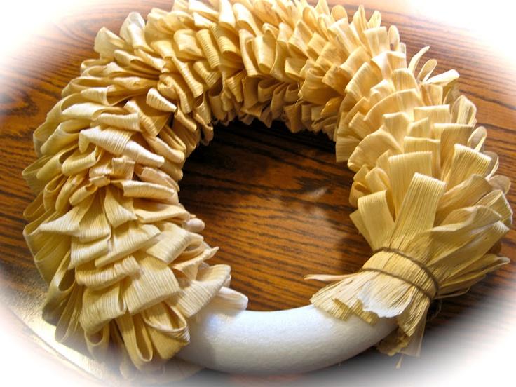 how to make a corn husk wreath   Simply Sheryl's: Corn Husk Wreath for Autumn