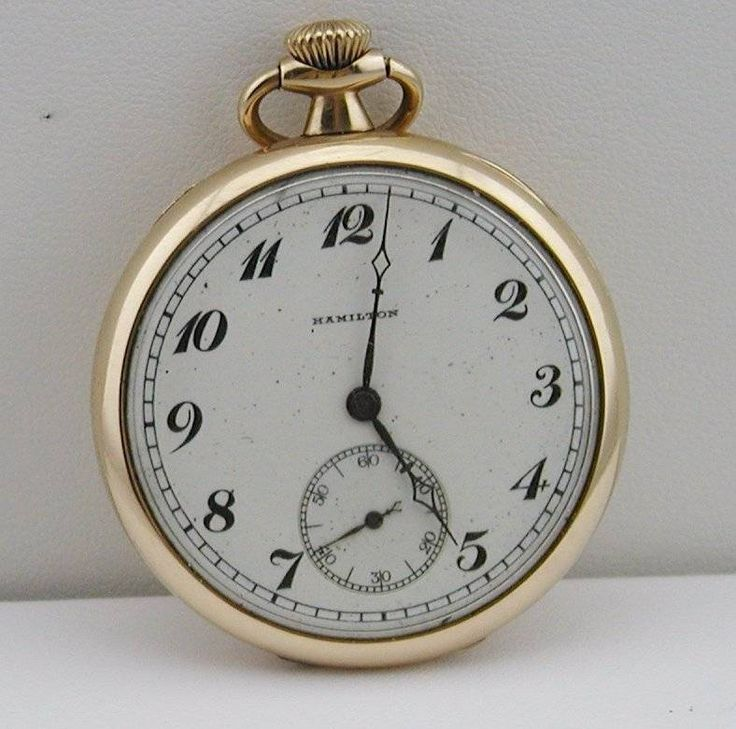 1920's 17 Jewels Hamilton Watch Company Pocket Watch #Hamilton