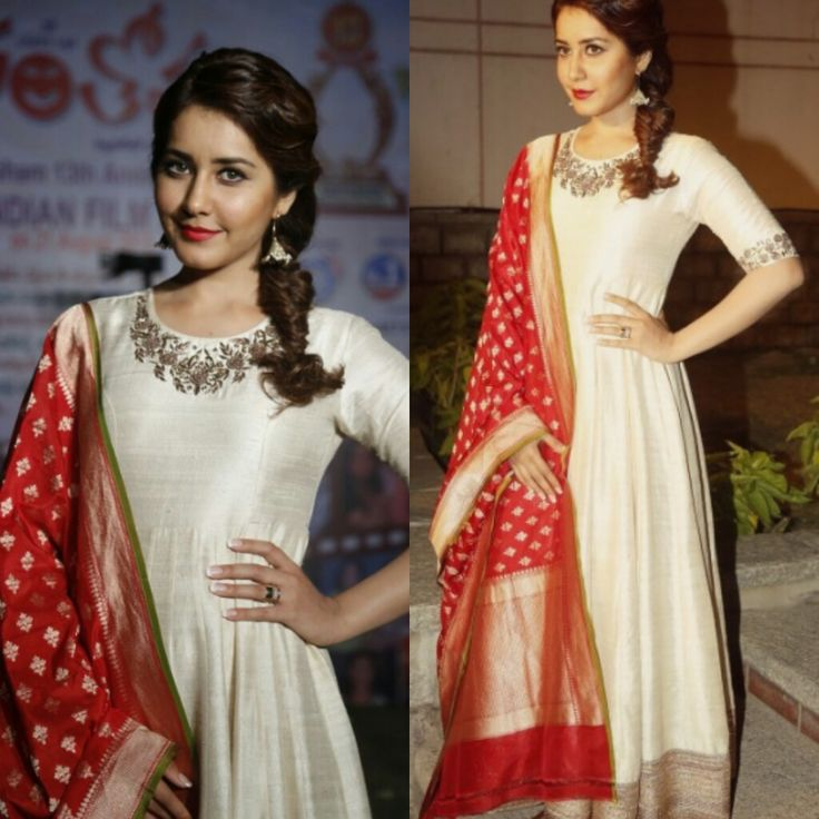 traditional and exquisite anarkali .. Love the work on neck
