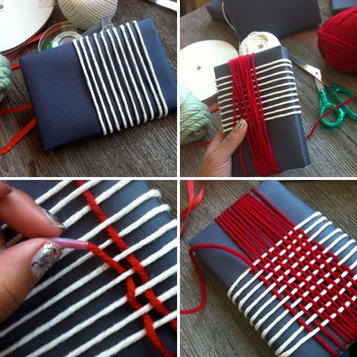 DIY yarn weaving - takes a few minutes but the end result is beautiful!