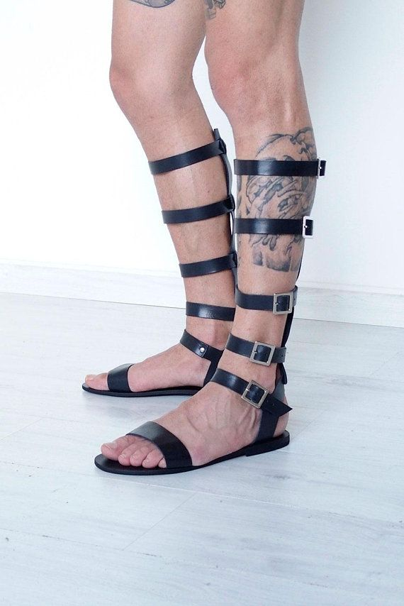 def70272f Tall gladiator strap sandals for men. We use high quality Vachetta leather  for the upper