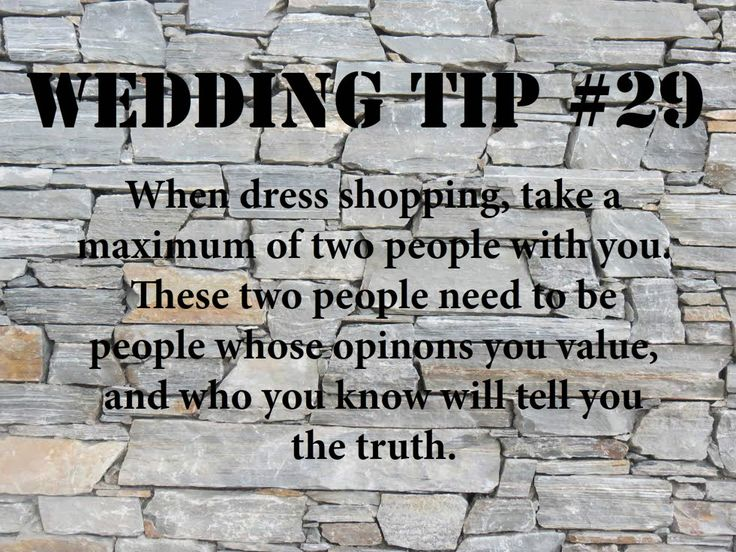 Wedding Tip #29