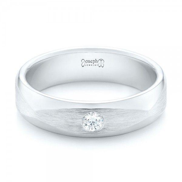 Custom Diamond Men's Wedding Band #JosephJewelry | Seattle | Bellevue