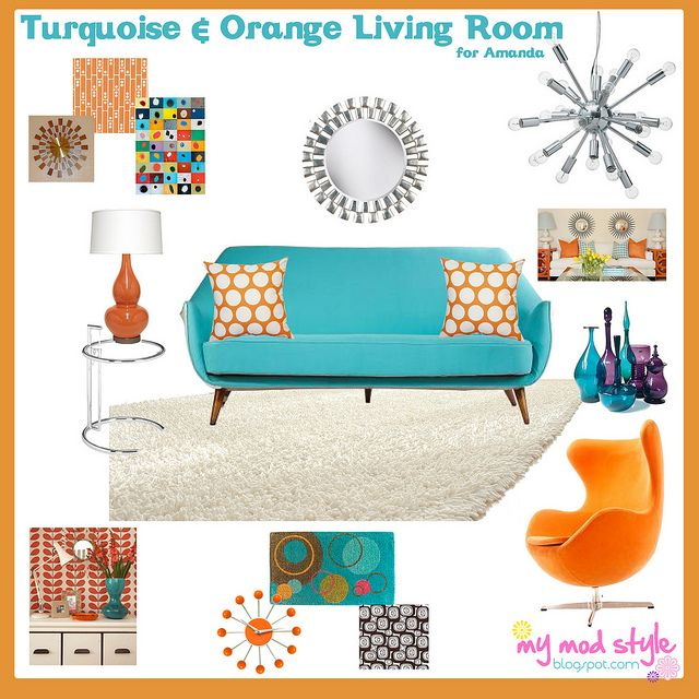 turquoise and orange living room - 31 Best Orange And Turquoise Images On Pinterest Colors