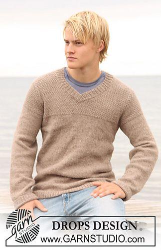 men's v-neck sweater--Drops