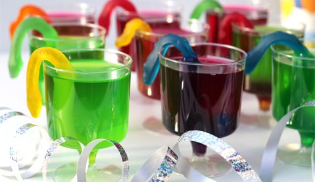 Snakes in jelly wine cups