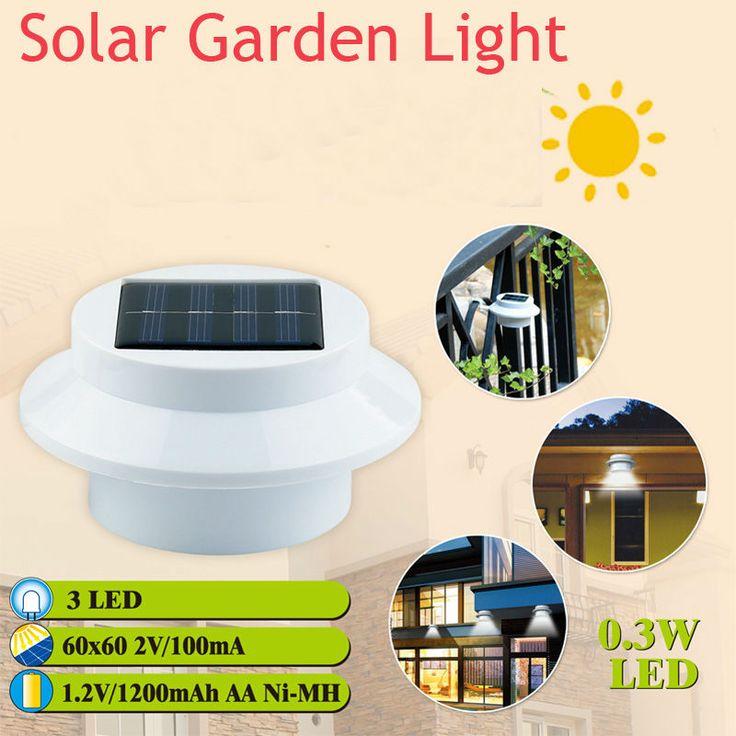 5 шт. / Lot солнечный сад лёгкие 3 белый светодиоды умывальник забор лёгкие хорошая для идей
