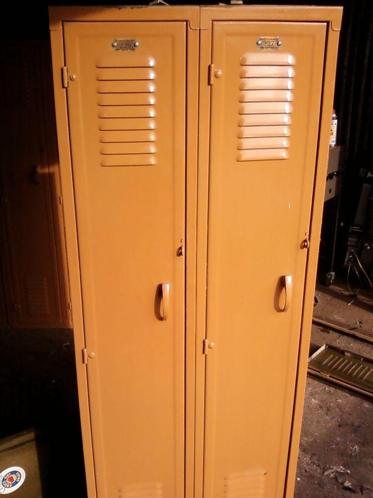 vintage school metal lockers fred medart mfg co antique steel locker texas