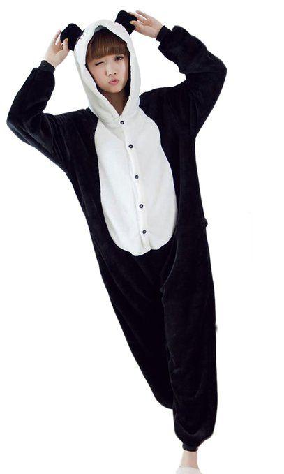 Pyjama panda femme homme unisex pyjamas combinaison,Taille S