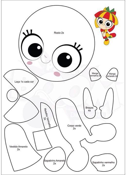 Boneca Emília, sítio do pica pau amarelo  2/4 ❤️ #Emilia #PartyBoom                                                                                                                                                                                 Mais