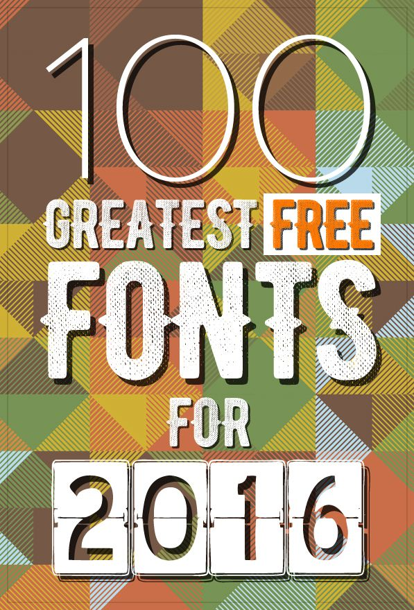 100 Greatest Free Fonts for 2016 | Fonts | Graphic Design Junction http://graphicdesignjunction.stfi.re/2015/12/100-greatest-free-fonts-for-2016/?sf=benrdxo #Design #Freebies