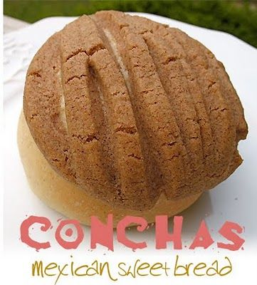 Mexican Sweet Bread....I have made another recipe for this yummy sweet bread but rolled more like horns with filling inside.  OMG, I wish this was a daily vitamin, I could eat a dozen of these!  Worth an additional workout!!!!