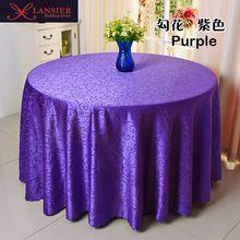 Europeu diâmetro 260 cm tampa de tabela toalha de mesa toalha de mesa de poliéster branco hotel festa banquete do casamento do natal Têxteis Para o Lar(China)