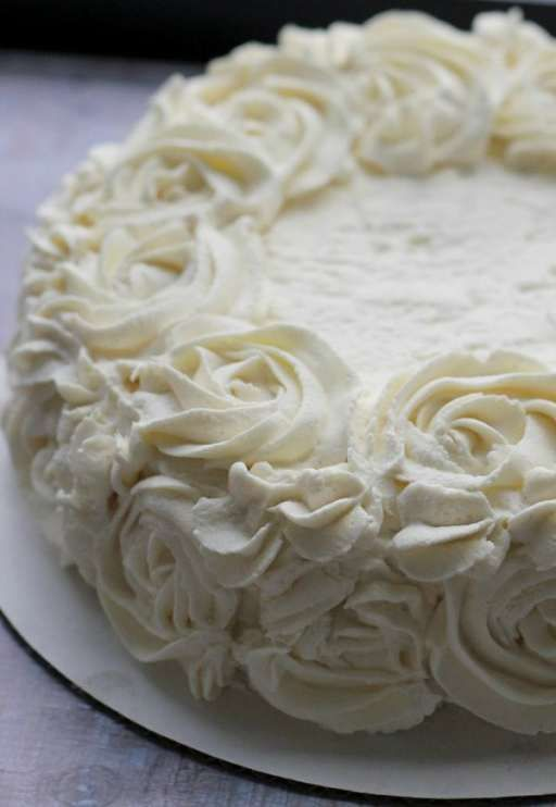 This vanilla cloud cake has the texture of an angel food cake but with a rich vanilla flavor and is perfect for just about any occasion.