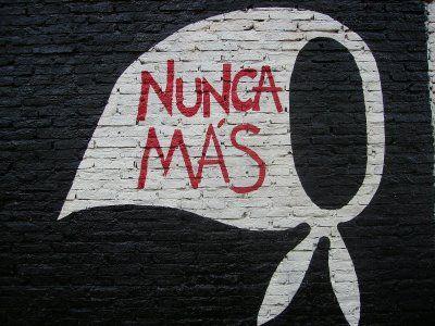 ¡Nunca Más! March 24th Día Nacional de la Memoria Argentina. los desaparecidos