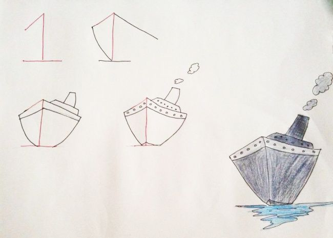 Teach your child to draw starting with numbers