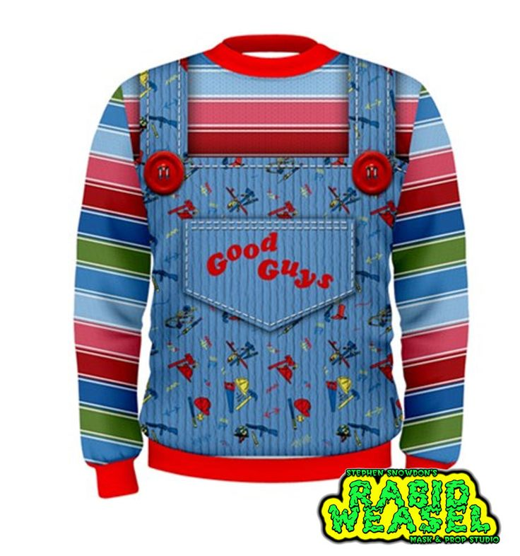 Good Guys Chucky Sweatshirt Replica Costume Halloween ...