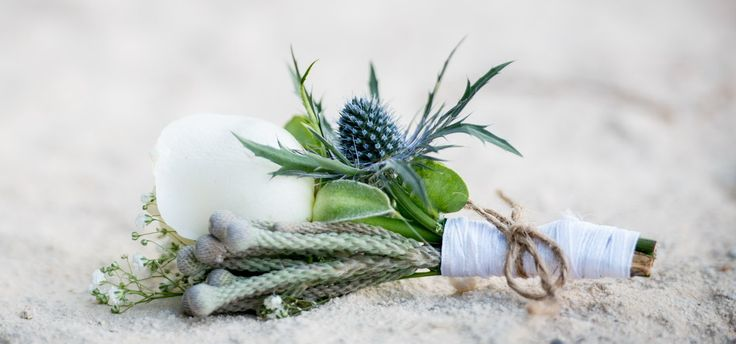 Rustic Grooms Boutonniere - Wedding in Crete