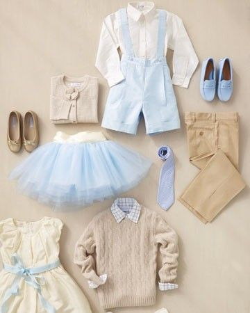Great layout for inspiration!    Classic baby blue and ivory fluffy tutu by TutusChicBoutique, $75.00